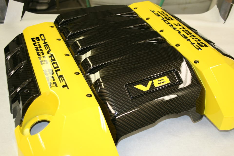fibra de carbono motor amarillo