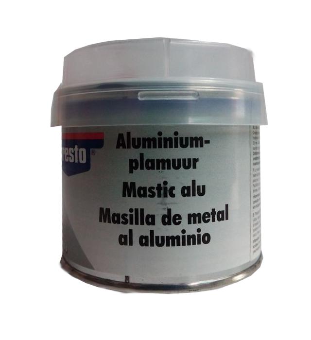masilla de metal al aluminio